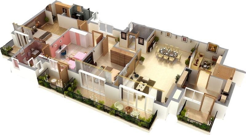 2D And 3D Floor Plan Photo Editing Services
